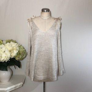 Lauren Conrad Open Shoulder Knit Top
